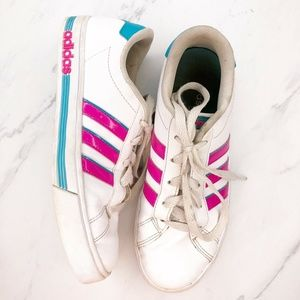 Adidas Sneakers Size 5 White Pink Blue Vaporwave